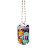 Graffiti Eyes Dog Tag