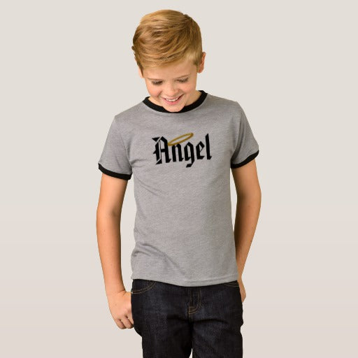 Angel Boy's Ringer T-Shirt
