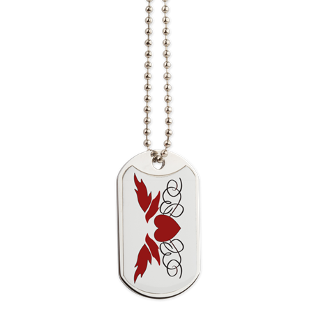 Flying Heart Dog Tag