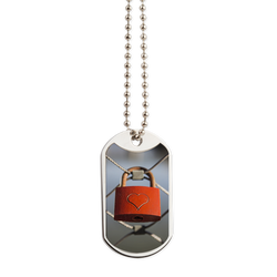Heart Lock Dog Tag