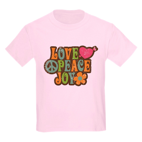 Love, Peace, Joy Kid's Crew-Neck T-Shirt