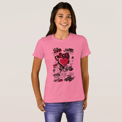 Love Rocks Girl's Bella+Canvas Crew T-Shirt