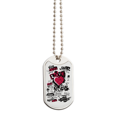 Love Rocks Dog Tag