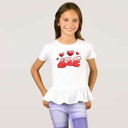 Love Girl's Ruffle T-Shirt