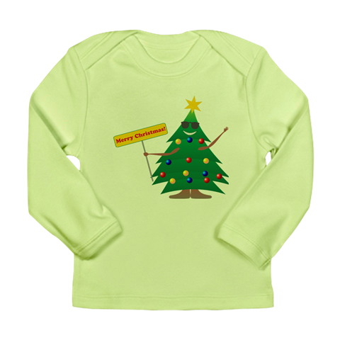 Merry Xmas Long Sleeve Infant T-Shirt