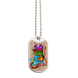 Music Graffiti Dog Tag