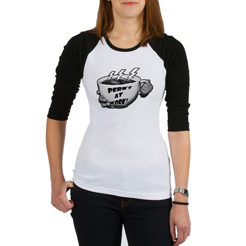 Perks at Work Girls Baseball Jersey T-Shirt