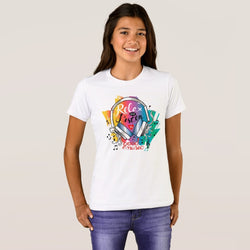 Relax and Listen Girl's Bella+Canvas Crew T-Shirt