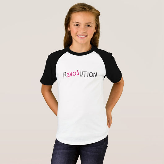 Revolution Girl's Short Sleeve Raglan T-Shirt