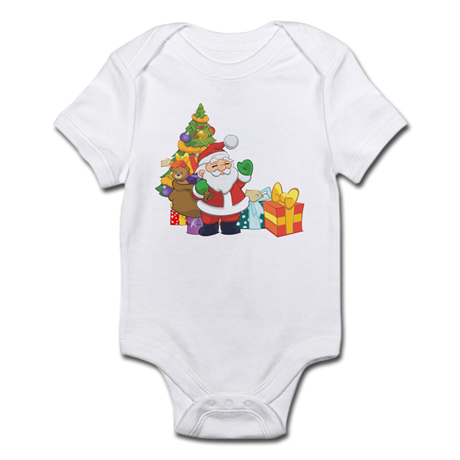 Santa Infant Bodysuit