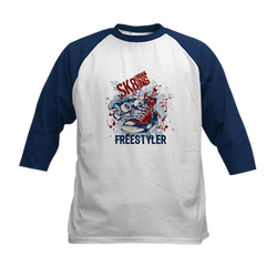 Sk8 Freestyle Youth Baseball Jersey T-Shirt