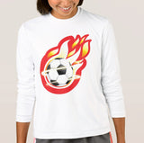 Soccer Star Girl's Sport-Tek Competitor Long Sleeve T-Shirt