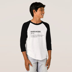 Teenager Boy's American Apparel 3/4 Sleeve Raglan T-Shirt
