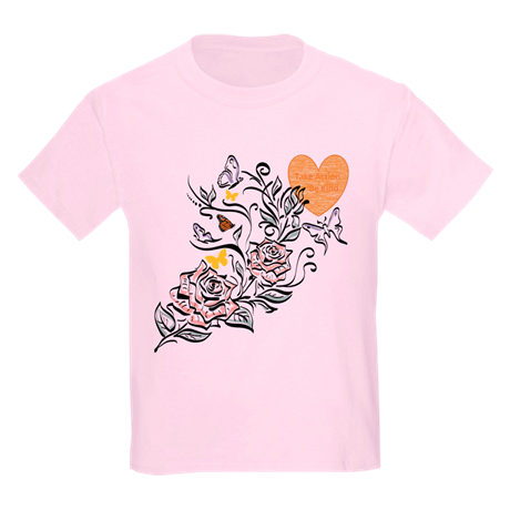 Take Action, Be Kind Butterfly Kids Crew-Neck T-Shirt