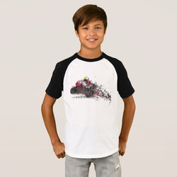 iRide Boy's Short Sleeve Raglan T-Shirt