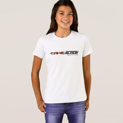 Take Action Apparel & Gear Logo Girls' Bella+Canvas Crew T-Shirt