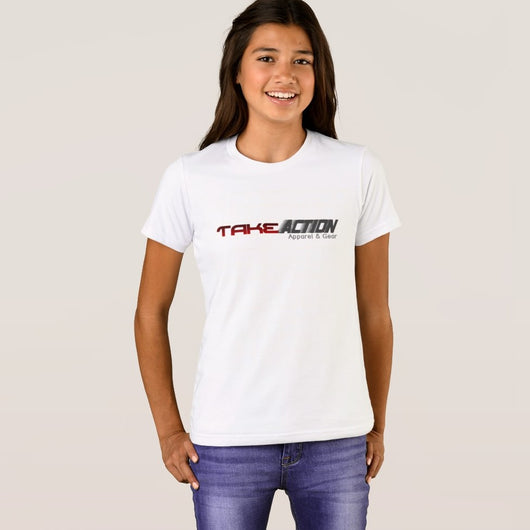 Take Action Apparel & Gear Logo Girl's Bella+Canvas Crew T-Shirt