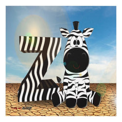 Z is for Zebra Matte Wall Panel