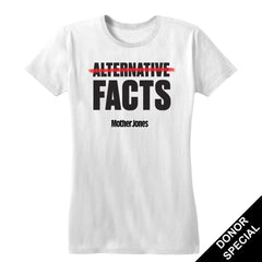 Facts Women's Fitted Tee (For Donors)