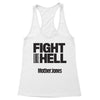 Fight Like Hell (Black Print) Women's Racerback Tank
