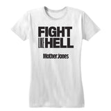 Fight Like Hell (Black Print) Women's Fitted Tee