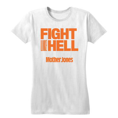 Fight Like Hell (Orange Print) Women's Fitted Tee