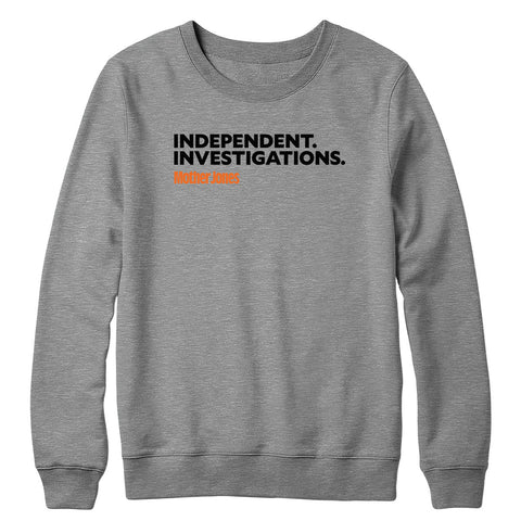Independent. Investigations. (Black/Orange) Crewneck