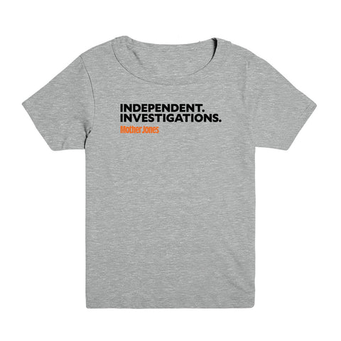 Independent. Investigations. (Black/Orange) Kid's Tee