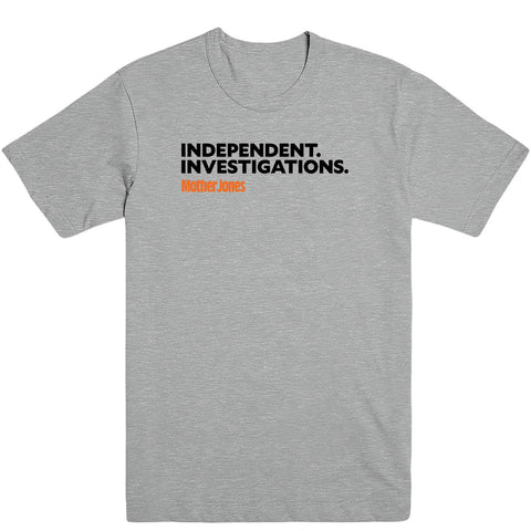 Independent. Investigations. (Black/Orange) Men's Tee