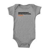 Independent. Investigations. (Black/Orange) Onesie