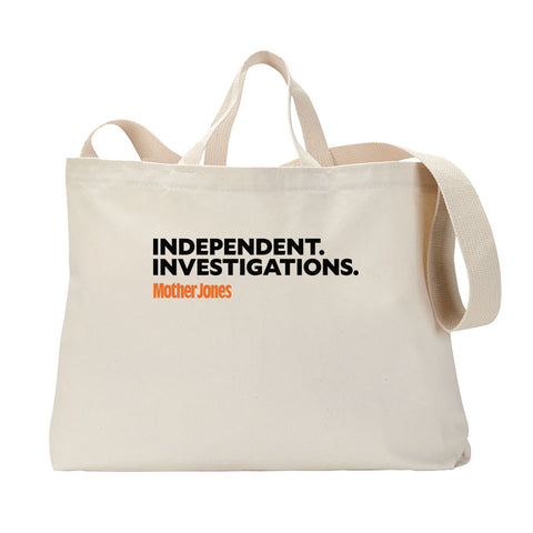 Independent. Investigations. (Black/Orange) Tote Bag