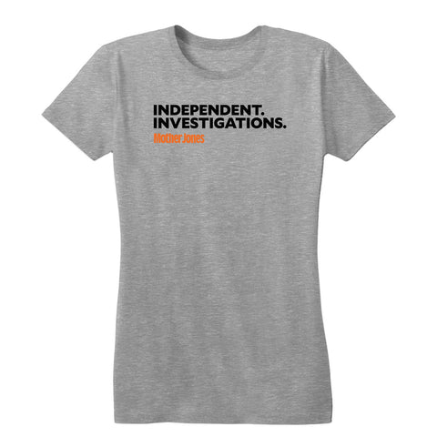 Independent. Investigations. (Black/Orange) Women's Tee
