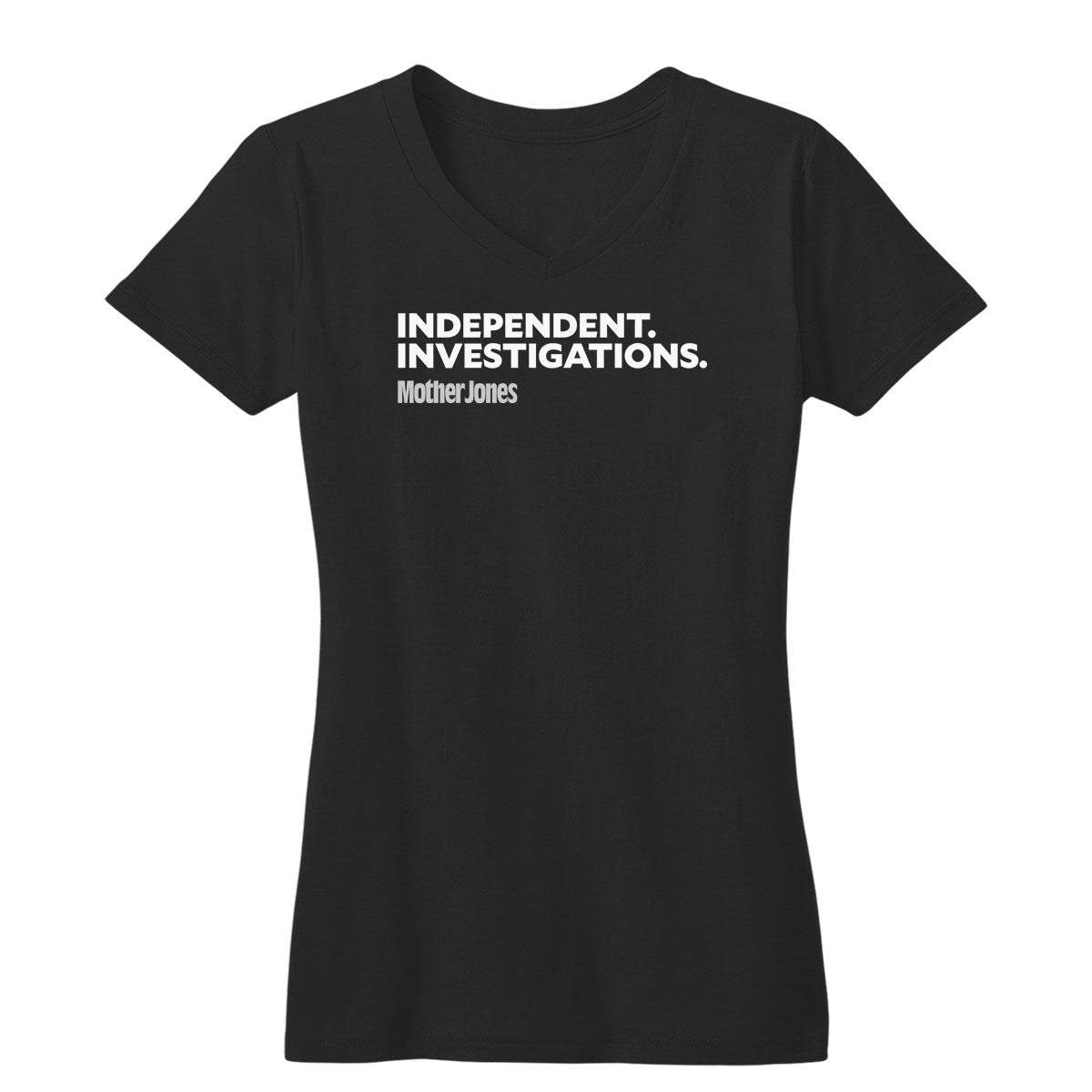 Independent. Investigations. (White/Grey) Fitted Women's V