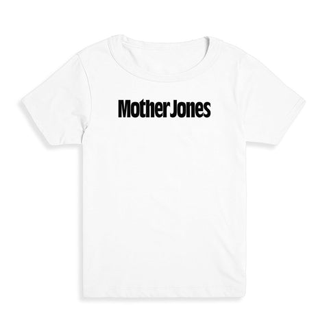 Mother Jones Logo (Black) Kid's Tee