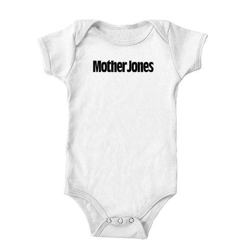 Mother Jones Logo (Black) Onesie