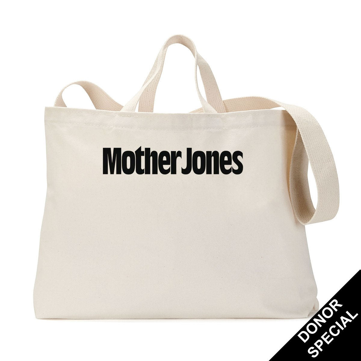 Mother Jones Logo Tote Bag (For Donors)