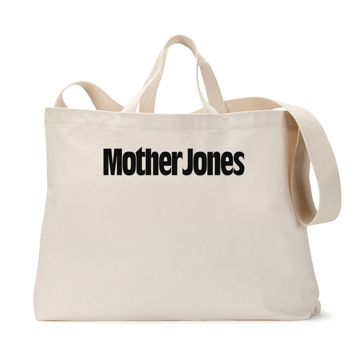 Mother Jones Logo (Black) Tote Bag