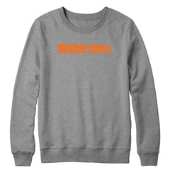 Mother Jones Logo (Orange) Crewneck