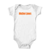 Mother Jones Logo (Orange) Onesie