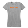 Mother Jones Logo (Orange) Women's Fitted Tee