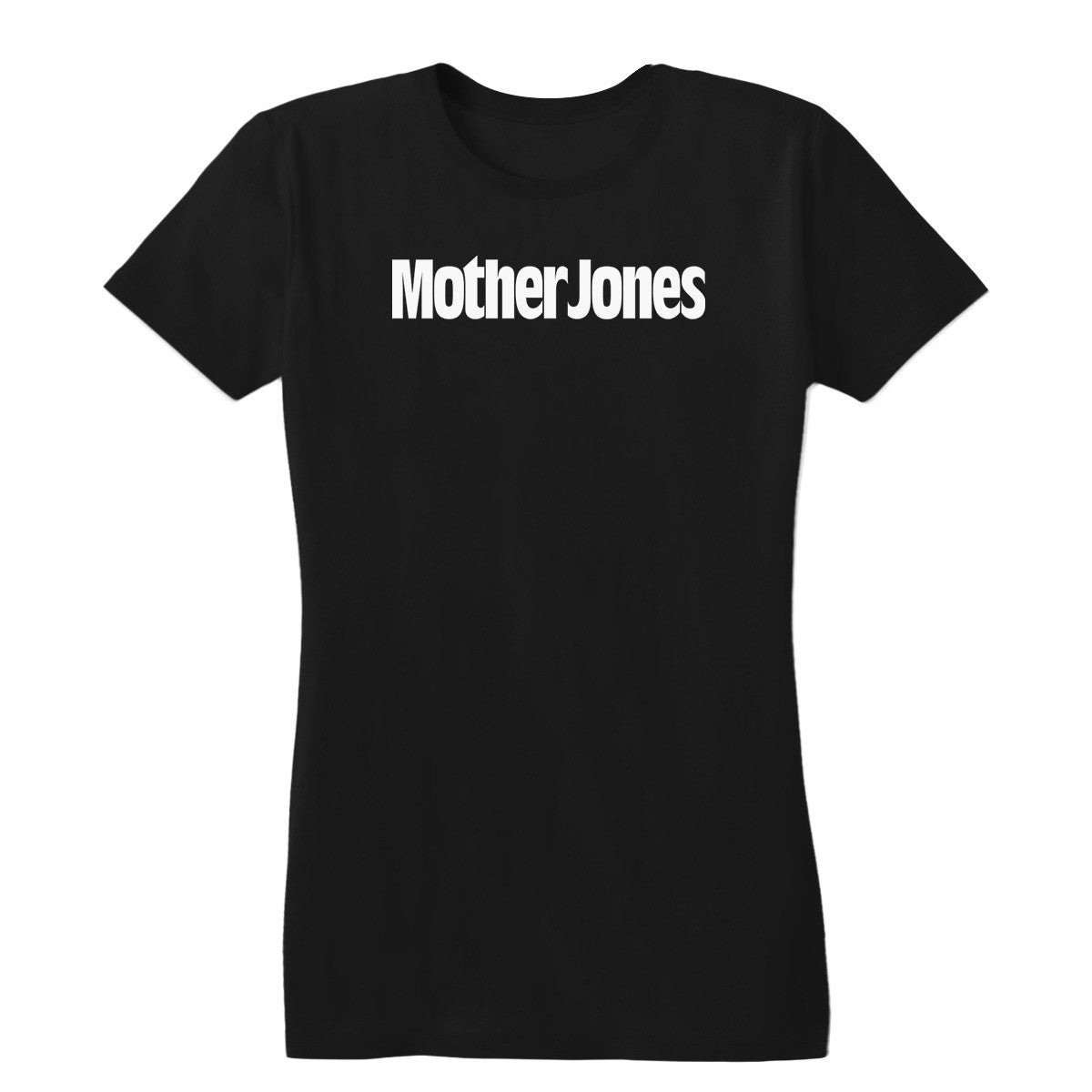 Mother Jones Logo (White) Women's Fitted Tee