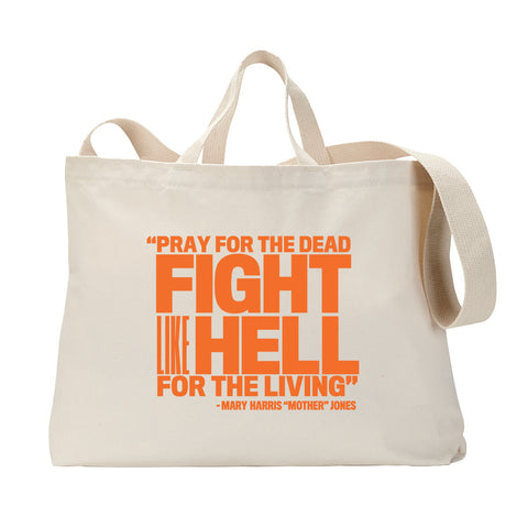 Pray for the Dead (Orange Print) Tote Bag