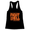 Pray for the Dead (Orange Print) Women's Racerback Tank