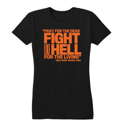 Pray for the Dead (Orange Print) Women's Fitted Tee