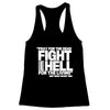 Pray for the Dead (White Print) Women's Racerback Tank