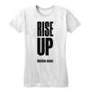 Rise Up (Black Print) Women's Fitted Tee