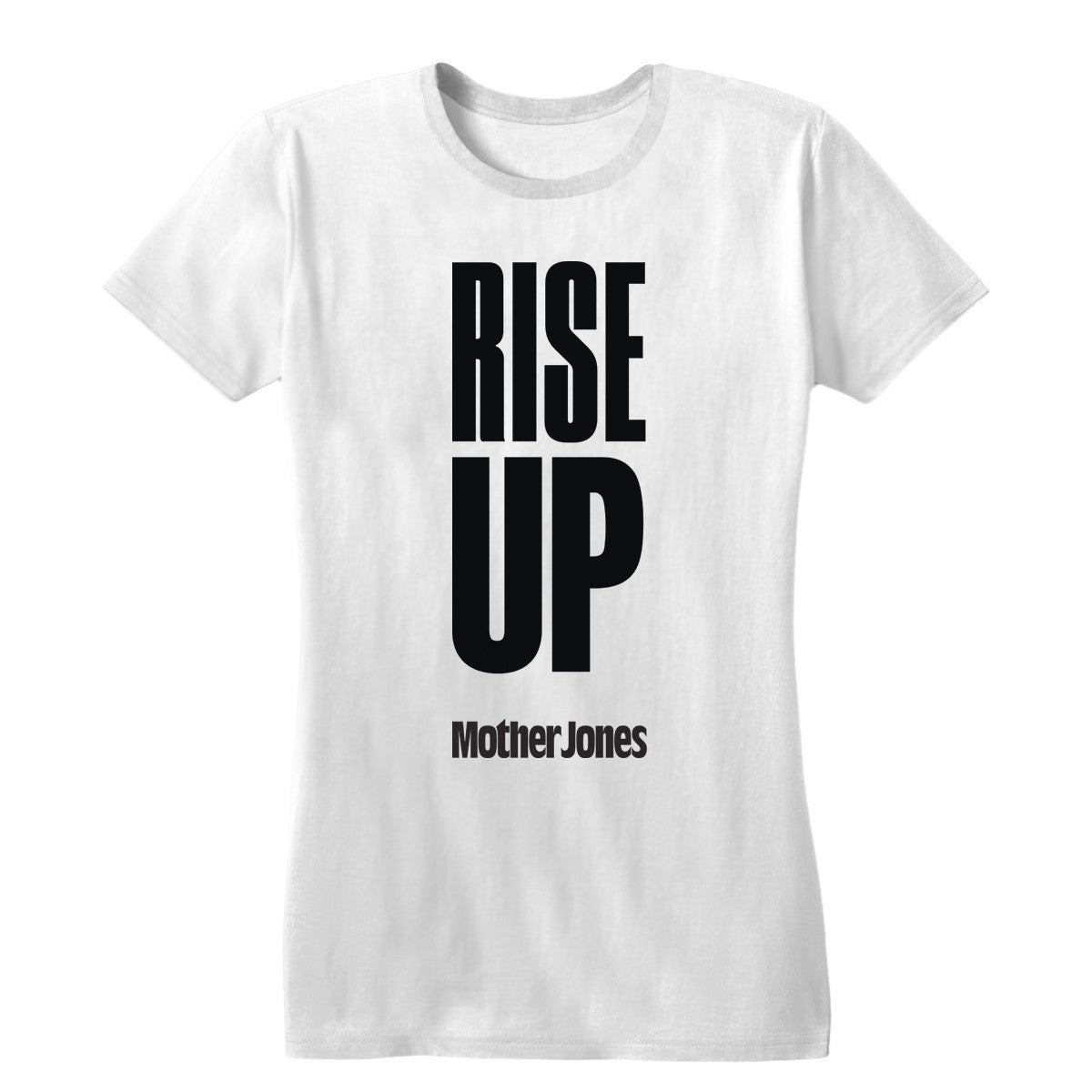 2794eb3a Rise Up (Black Print) Women's Fitted Tee - Mother Jones