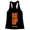 Rise Up (Orange Print) Women's Racerback Tank