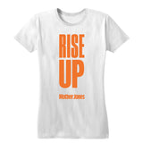 Rise Up (Orange Print) Women's Fitted Tee