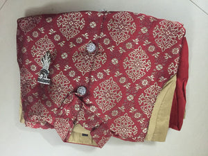 Boys 3 piece red and gold Kurta set